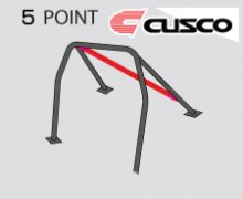 Cusco Safety 21 Black Steel 5 Point Roll Cage Genesis Coupe