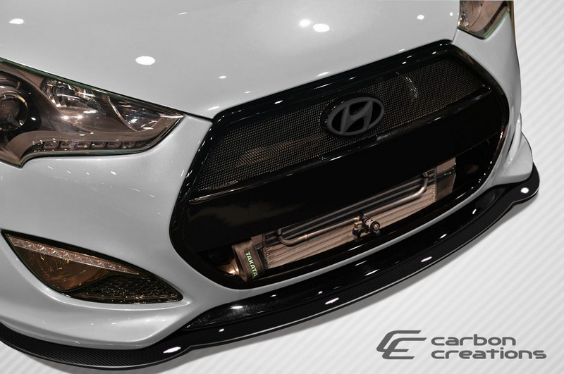 2012-2014 Hyundai Veloster Turbo Carbon Creations GT Racing Front Splitter - 1 Piece - Click Image to Close