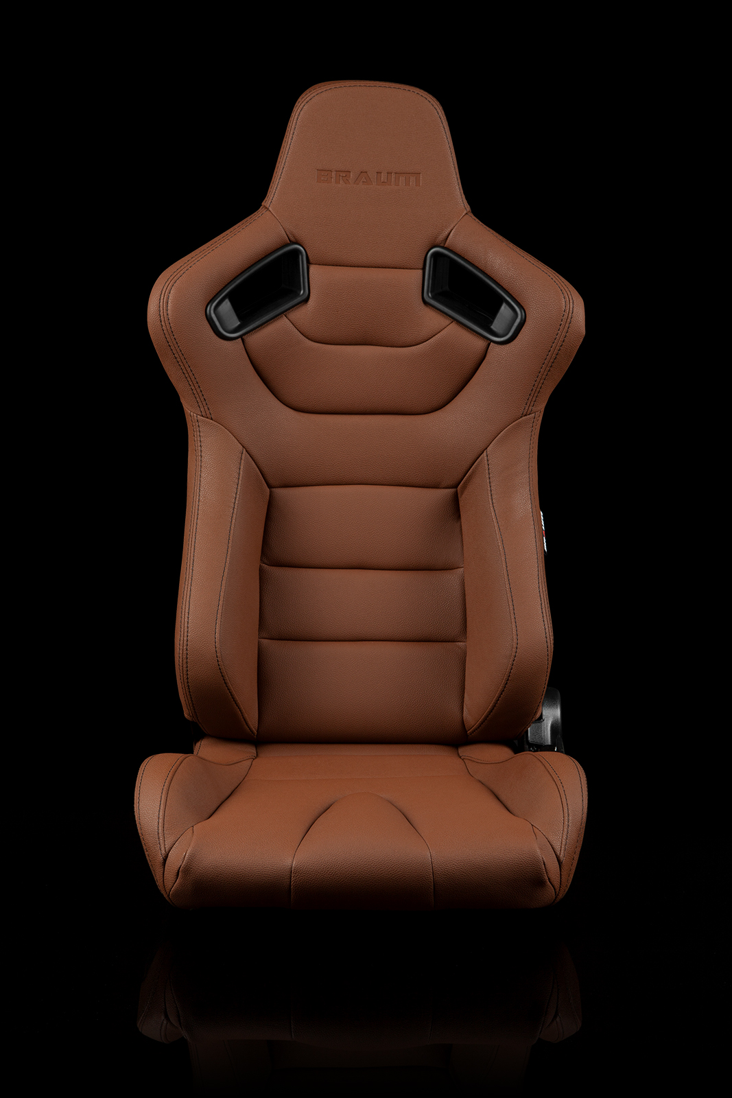 Braum Elite Brown Leatherette Carbon Fiber Mixed Sport Reclining Seats - Pair