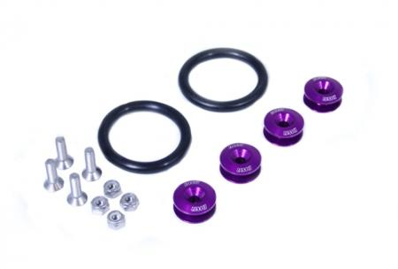 BLACKWORKS QUICK RELEASE FASTENERS SET - PURPLE - Click Image to Close
