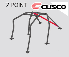 Cusco Safety 21 Black Steel 7 Point Roll Cage Genesis Coupe