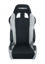Corbeau A4 Reclinable Seat in Black & Grey Microsuede - PAIR